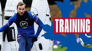 تمرینات آماده سازی تیم ملی انگلیس پیش از بازی با ایسلند
