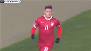 دبل لوکا یوویچ برای صربستان مقابل روسیه