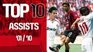 10 پاس گل برتر آث میلان از فصل 2001 تا 2010