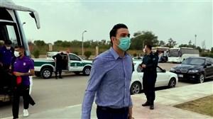 ورود تیم فولاد خوزستان به ورزشگاه شهدای فولاد