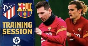 تمرینات بازیکنان بارسلونا برای تقابل با اتلتیکو مادرید