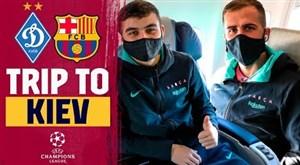 سفر بازیکنان بارسلونا به اوکراین برای دیدار با دیناموکیف