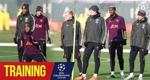 تمرینات منچستریونایتد برای لیگ قهرمانان اروپا