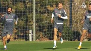 ادامه تمرینات رئال مادرید برای دیدار با اینتر