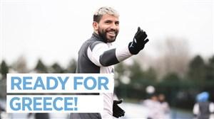 تمرینات آماده سازی منچسترسیتی برای بازی در لیگ قهرمانان
