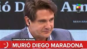 اشک های مجری آرژانتینی به دلیل درگذشت مارادونا