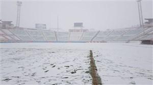 دیدار تراکتور - سپاهان به دلیل بازش سنگین برف لغو شد