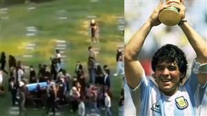 دیگو مارادونا به خاک سپرده شد