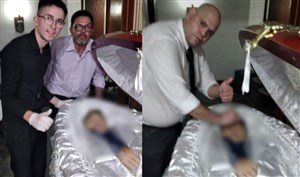 جزای سلفی با جنازه مارادونا؛ اخراج و تهدید به مرگ!