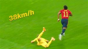 سریعترین استارت ها و فرارهای سرعتی فوتبال در فصل 21-2020