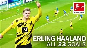 آمار عالی ارلینگ هالند در بوندسلیگا; 23 گل در 22 بازی