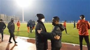 خوشحالی تیم بادران پس از پیروزی بر خیبر خرم آباد