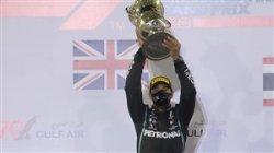 لوئیز همیلتون قهرمان فرمول یک بحرین شد