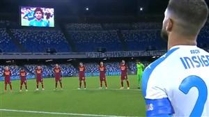 احترام بازیکنان رم و ناپولی به دیگو مارادونا
