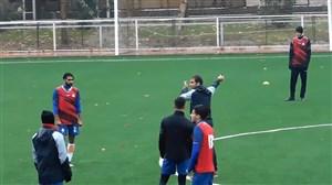 تمرین اجباری سایپا در چمن مصنوعی آکادمی فوتبال