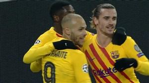 گل دوم بارسلونا به فرانس واروش توسط برایتویت