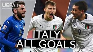 مرور گلهای ایتالیا در مرحله گروهی لیگ ملت های اروپا