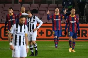 بارسلونا 1-0 لوانته: بازگشت به پیروزی با مسی