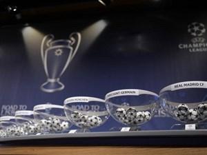 مراسم قرعه کشی لیگ قهرمانان اروپا مرحله 1/8 پایانی