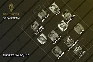 رونمایی از بهترین تیم تاریخ بدون یک نام بزرگ(عکس)