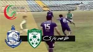 خلاصه بازی خیبر 2 - ملوان 2