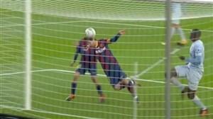 گل اول بارسلونا به والنسیا با ضربه سر مسی