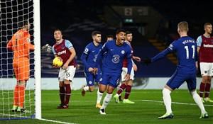 چلسی 3-0 وستهام: پیروزی آبیها در دربی لندن