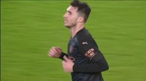 گل چهارم منچسترسیتی به آرسنال با ضربه سر لاپورته
