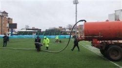شرایط عجیب ورزشگاه وطنی در آستانه دیدار نساجی - پرسپولیس