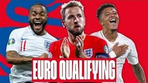 مرور گلهای تیم ملی انگلیس در مقدماتی جام ملتهای اروپا 2020