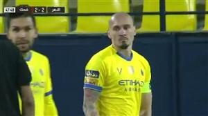 گل به خودی عجیب مایکون مدافع برزیلی النصر