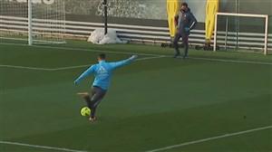 درخشش هازارد در تمرینات رئال مادرید