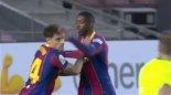 گل اول بارسلونا به ایبار توسط (دمبله)