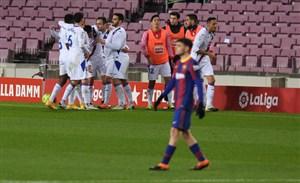 بارسلونا ۱ - ۱ ایبار؛ توقف ناامیدکننده در غیاب مسی
