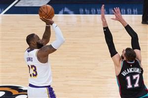 خلاصه بسکتبال ممفیس گریزلیز - لس آنجلس لیکرز