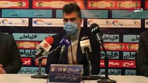 کنفرانس خبری رحمان رضایی بعد از بازی با تراکتور