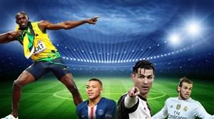 سریعترین فوتبالیستهای جهان از نگاه بولت (عکس)