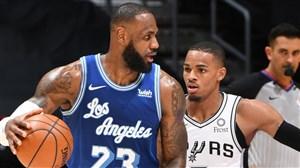 خلاصه بسکتبال لس آنجلس لیکرز - سن آنتونیو اسپرز