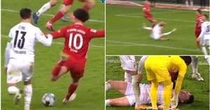 شوت وحشتناک و بیهوشی مدافع تیم ملی آلمان (عکس)