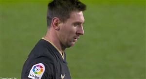گل سوم بارسلونا به گرانادا (دبل مسی)