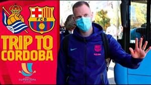سفر بازیکنان بارسلونا به کوردوبا برای بازی با سوسیداد