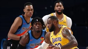 خلاصه بسکتبال اوکلاهاما سیتی - لس آنجلس لیکرز