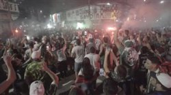 جشن پرتعداد و خطرناک هواداران پالمیراس در اوج کرونا