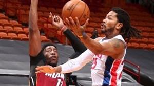 خلاصه بسکتبال میامی هیت - دیترویت پیستونز