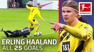25 گل در 25 بازی عملکرد هالند در بوندسلیگا