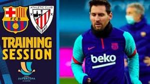 آخرین تمرینات بارسلونا پیش از فینال سوپرجام اسپانیا