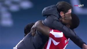 شادی بازیکنان بیلبائو پس از قهرمانی در سوپرکاپ اسپانیا