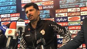 کنفرانس خبری حسینی بعد از بازی با ذوب آهن
