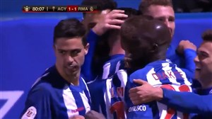گل اول آلکویانو به رئال مادرید توسط سولبز