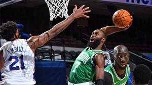 خلاصه بسکتبال فیلادلفیا - بوستون سلتیکس